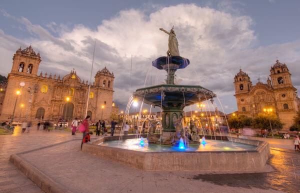 main square -Spanish school in Cusco Peru