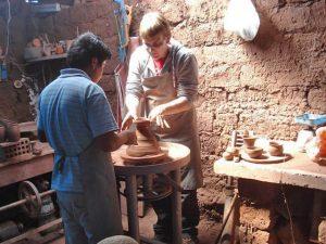 The ceramic workshop in Cusco