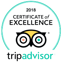 Certificate of Excellence 2018 - TripAdvisor