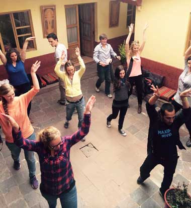 salsa lessons in small groups , learning the sensual rhythm of Latin salsa