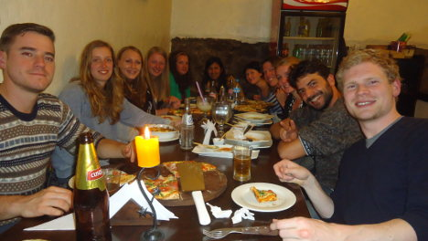 Activity dinner with students Wiracocha Spanish School