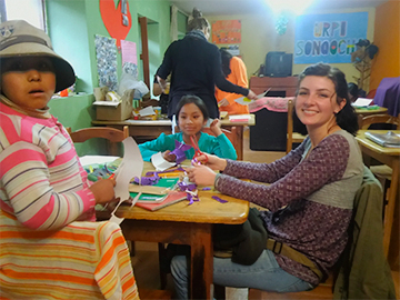 Volunteer work at Kindergarten and Schools in cusco peru wiracocha spanish school