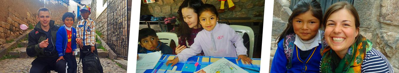 Volunteer work at Kindergarten and Schools cusco peru wiracocha spanish school